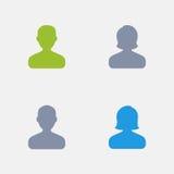 Avatars - ícones do granito ilustração royalty free