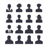 Avatars ajustados do ícone da Web Imagem de Stock Royalty Free