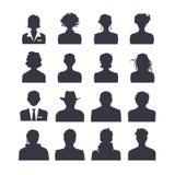 Avatars ajustados do ícone da Web Imagem de Stock Royalty Free