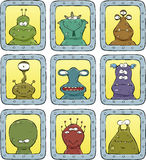 Avatars aliens. In the ports vector Royalty Free Stock Images