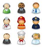 Avatars als verschillende beroepen Stock Foto's