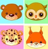 Avatars animais Imagem de Stock Royalty Free