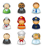 Avatars as different professions Stock Photos