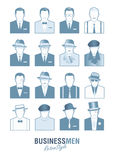 Avatars business retro men Stock Image