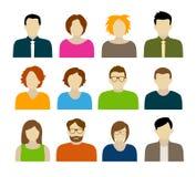 Avatars - caráteres Imagem de Stock Royalty Free