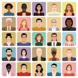 Avatars in cartoon style. Set of vector icons - avatars in cartoon style Stock Images