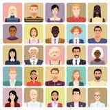 Avatars in cartoon style. Vector icons - avatars in cartoon style Royalty Free Stock Photo