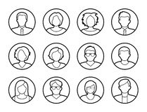 Avatars - characters or profile pictures Royalty Free Stock Images