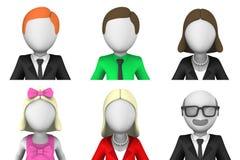 avatars 3d av affärsfolk Arkivfoto