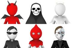 avatars 3d av tecknad filmtecken Arkivfoton