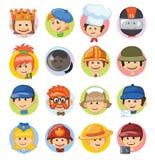 Avatars d'enfant de professions Illustration Stock