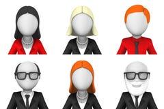 avatars 3d för forum- eller användareprofiler Royaltyfri Bild