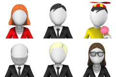 Avatars of 3d small people Stock Photo