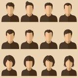 Avatars de personnes Photos stock