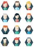 Avatars de stijl van de pictogrammenveelhoek Vector Illustratie