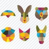 Avatars, dieren, mozaïek stock illustratie
