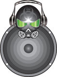 Avatars dj. Musical avatars DJ for installation on forums and sites, with a freakish head Royalty Free Stock Photos