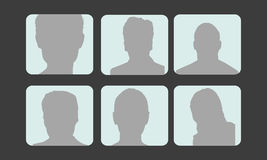 Avatars do perfil do vetor Imagem de Stock Royalty Free