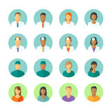 Avatars of doctors and patients for medical forum Royalty Free Stock Images