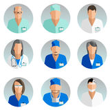 Avatars doctors Stock Photography