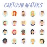 Avatars dos desenhos animados Imagens de Stock Royalty Free