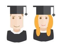 Avatars dos estudantes ajustados Imagem de Stock Royalty Free