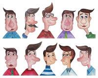 Avatars dos homens Fotos de Stock Royalty Free
