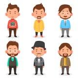 Avatars dos homens em equipamentos diferentes Fotos de Stock Royalty Free