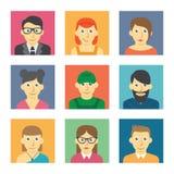 Avatars dos povos Fotos de Stock