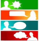 Avatars dos povos com bolhas do discurso ilustração stock