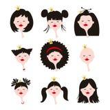 Avatars för flickor Royaltyfria Foton