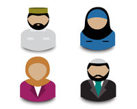 Muslim avatars Royalty Free Stock Photos