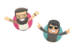 Avatars with funny guys. Conceptual illustration Royalty Free Stock Photography
