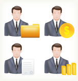 Avatars of a male and in business suits. This is file of EPS10 format Royalty Free Stock Photo
