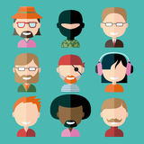 Avatars masculinos ilustração royalty free