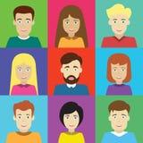Avatars masculinos e fêmeas Foto de Stock Royalty Free