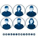 Avatars masculinos e fêmeas Imagens de Stock Royalty Free