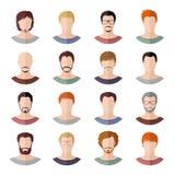 Avatars of men in modern flat design Stock Image