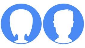 Avatars no fundo azul Fotografia de Stock Royalty Free