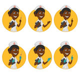 Avatars nurses Stock Images