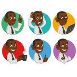 Avatars of office worker. Stock Photography