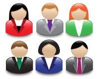 Avatars office workers Stock Photo