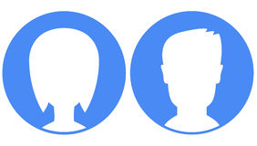 Avatars op blauwe achtergrond Royalty-vrije Stock Fotografie
