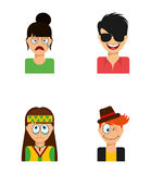 Avatars people Royalty Free Stock Image