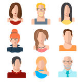 Avatars of people faces. Stock Photos