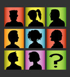 Avatars people silhouette Royalty Free Stock Photo
