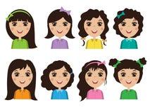 Avatars people. women Stock Photos