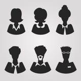 Avatars realísticos do silhouete Fotos de Stock Royalty Free
