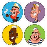 Avatars sailors. vector illustration