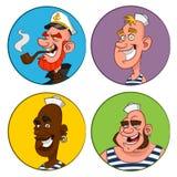 Avatars sailors. Stock Images